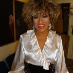Luisa Marshall as Tina Turner backstage at the Coast Capital Playhouse 2012.