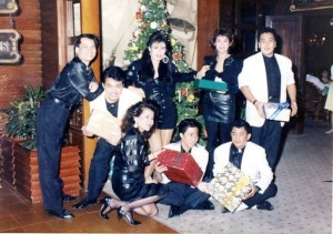 Luisa Marshall's Hall of Fame Band during their last 1988 Christmas show at Siete Pecados, Philippine Plaza Hotel.