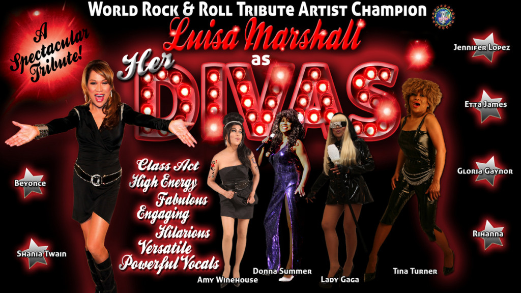 Luisa Marshall as her Divas Web Poster.