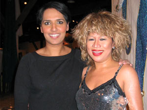 Tina Turner Tribute Artist, Luisa Marshall, and CityTV News Anchorwoman, Simi Sara, after an excellent performance for UNICEF.