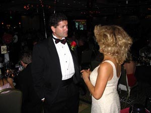 Tina Turner Tribute Artist Luisa Marshall chatting with Edgar Martinez in Seattle. Edgar is a future Hall of Famer for the Seattle Mariners