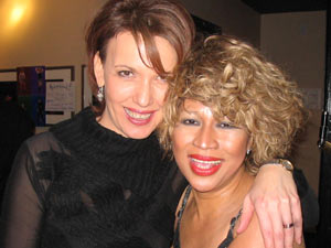 Tina Turner Tribute Artist, Luisa Marshall, with popular CBC News Anchorwoman, Gloria Macarenko.