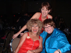 Tina Turner Tribute Artist, Luisa Marshall with Vicki Gabereau and Gloria Macarenco at the Women in Film Awards.