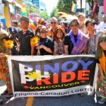 Pinoy Pride members with their banner. Get Inspired Filipino Pride - Pinoy Pride Vancouver 2013 - Simply the Best - The Luisa Marshall Show.