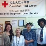 Laura Guzman volunteering for Red Cross.
