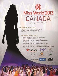Miss World Canada 2013 Poster