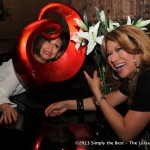 Comedian Fe De Los Reyes with Luisa Marshall.