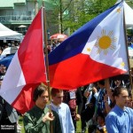 Philippine Independence Day in North Vancouver 2013. Filipino Flag.